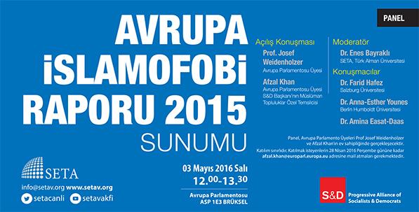 Avrupa İslamofobi Raporu 2015 Sunumu