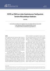 FETÖ ve PKK'nın Lider Kadrolarının Tasfiyesinin Terörle Mücadeleye Katkıları