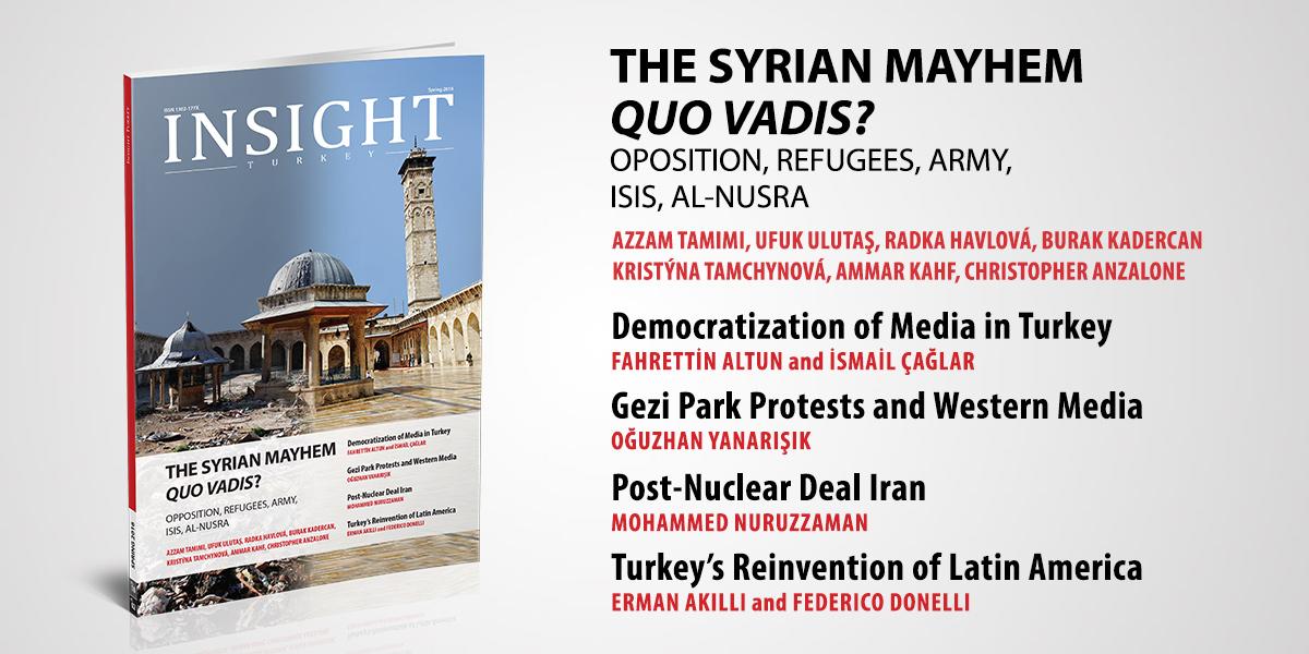 Insight Turkey Dergisinin Son Sayısı Suriye Dosyasıyla Yayında!